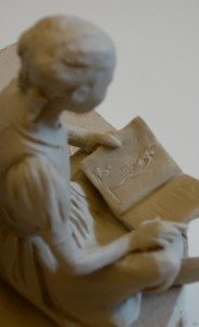 Monument Girl with book image